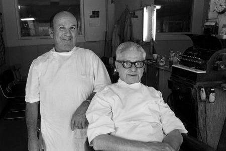 1977 Star Billiard Barbers - Fred (Right) 100 Block 20th Street West, Saskatoon, SK