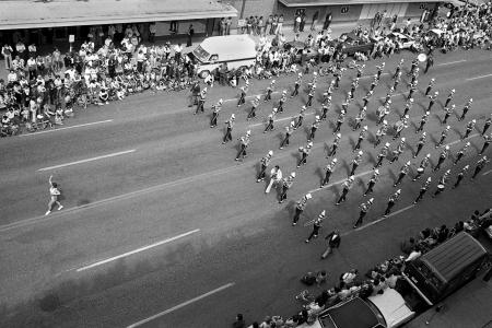 1977 Saskatoon Exhibition Parade, Hudson's Bay Parkade, 1st Ave and 24th Street